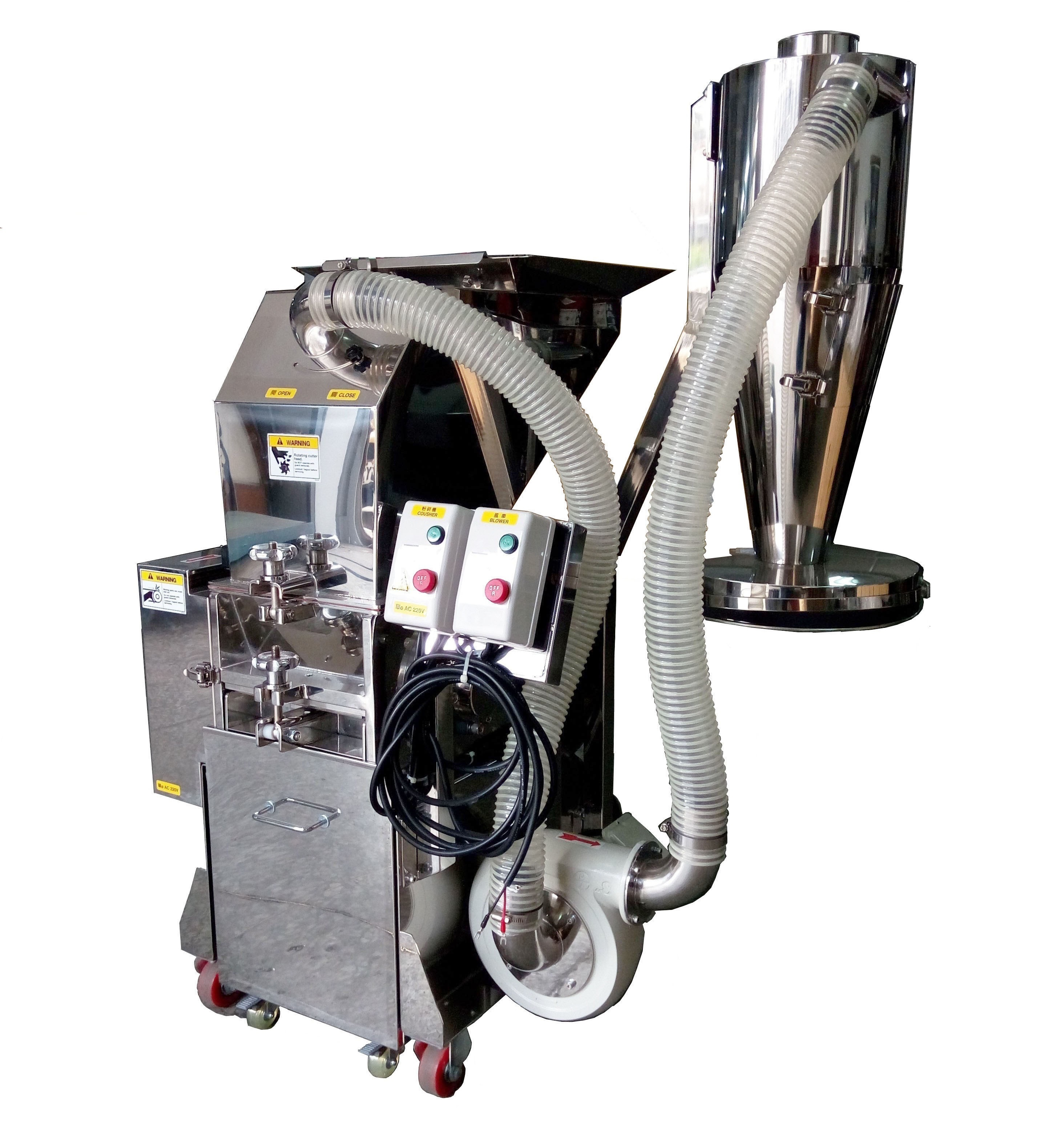 3HP Stainless Steel Tea Bag Cutting Mill With Cyclone Powder Collector